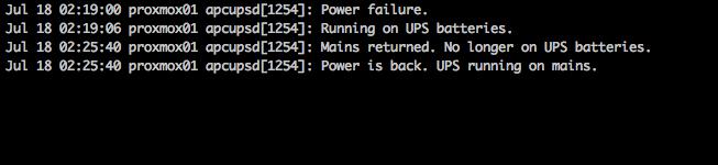 Configuring UPS/apcupsd